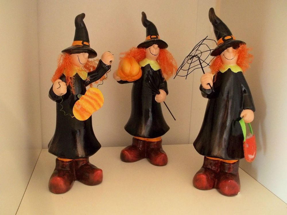 Comical Decorative Halloween Witch Ornaments